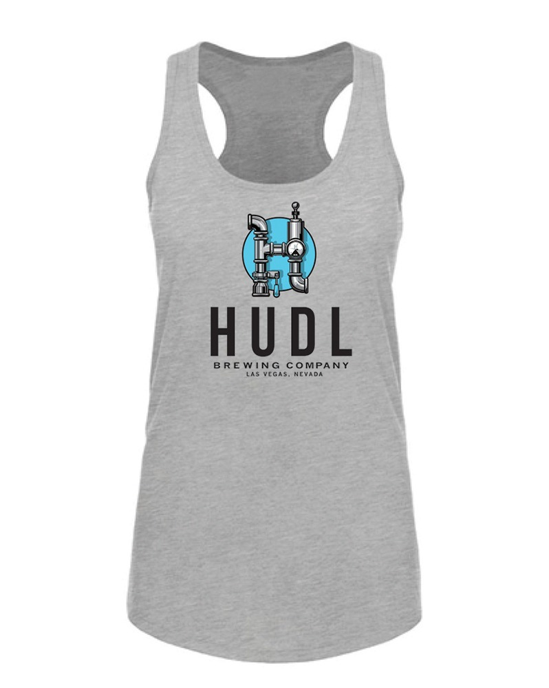 HUDL Brewing - Women's Tank Front - Grey