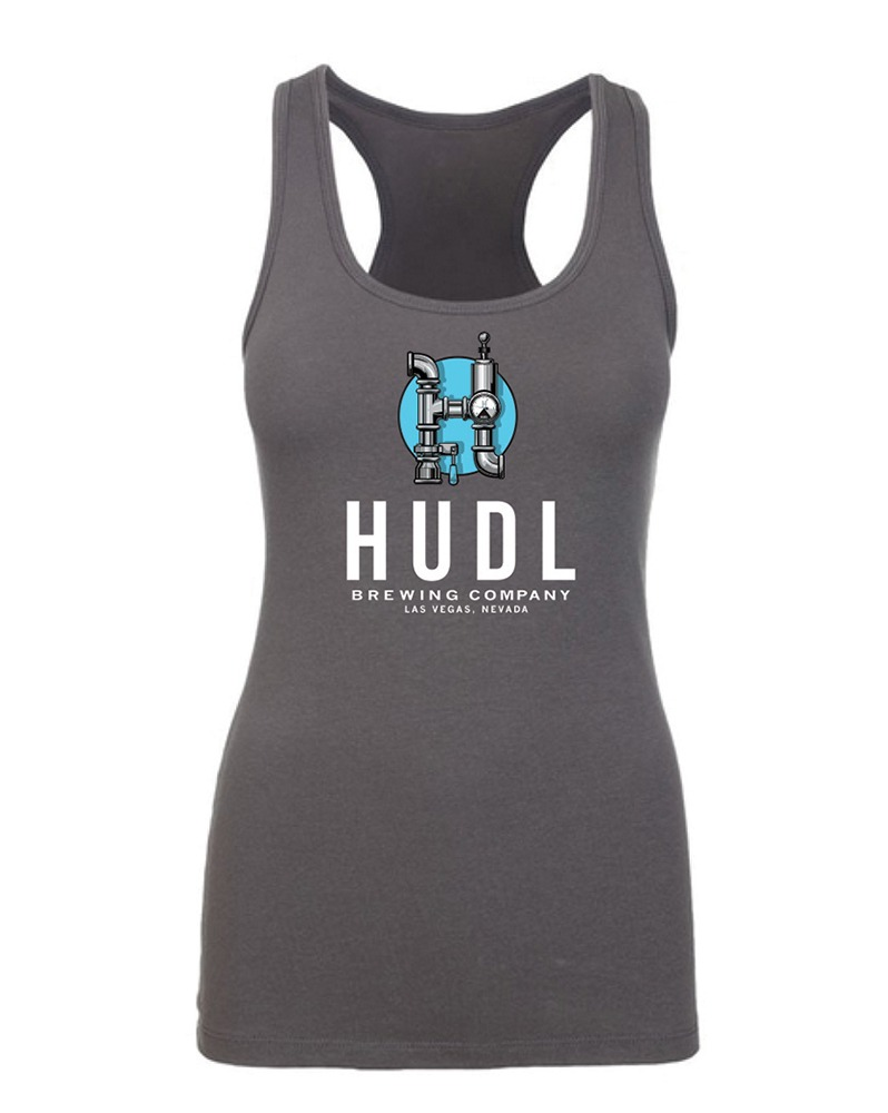 HUDL Brewing - Women's Tank Front - Charcoal